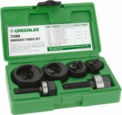 Greenlee 11 Piece 1/2 To 1-1/4 Punch Hole Diam Manual Knockout Set