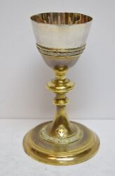 + 100 Year Old Hand Made - Cup Sterling Silver Church Chalice 8 Cu606 +