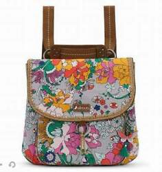 NWT Sakroots Convertible Backpack Crossbody Lilac Flower Power 3 Ways SHIP INT