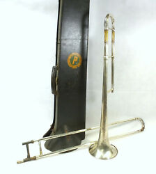 Trumpet In Case Frank Holton And Co.chicago Union Label Mpbp Bandsw 33640