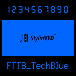 Vfd Display Color Filter-techblue-for Vintage Calculator Casio,toshiba,braun And