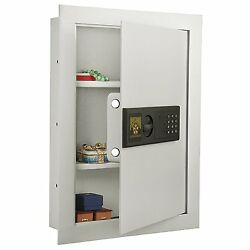 Concealed Wall Safe Electronic Home Office Security Gun Lock Box Cash Valuables
