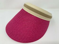 Women Wide Brim Visor Cap Lady Summer Beach Straw Clip On Sun Hat Tennis Golf Pi $9.99