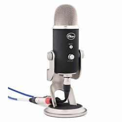 Pro Yeti Blue Microphones Studio XLR And USB Output Condenser Microphone Silver