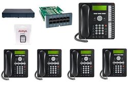 Avaya Ip Office 500 Ipo 500 V2 8.1 Atm4 Combo Card 1 1416 And 4 1408 Phones