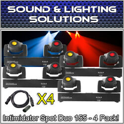 (4) Chauvet DJ Intimidator Spot Duo 155 Dual Compact LED Moving Head +Extras!