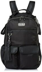 Itzy Ritzy Boss Backpack Diaper Bag Herringbone Black Back Pack New Mom Gift