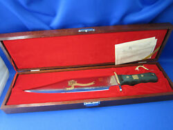 Al Mar President Memorial Bowie Knife Limited Edition Made In Japan Mint Cond.