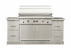 TEC Sterling Patio 2 FR Infrared Grill on SS Island and Full Rack NG