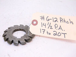 Used Itw Involute Gear Cutter 6-12p 14-1/2°p.a. D+f .180 17-20t Bore 1