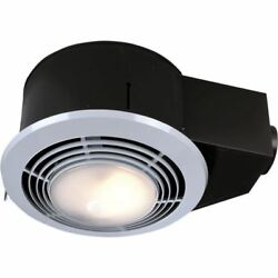 Bathroom Exhaust Fan with Light and Heater 100 CFM Quiet Bath Ceiling Mount