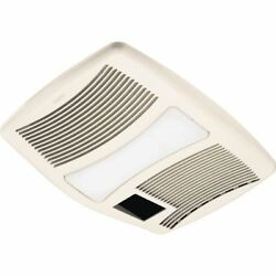Bathroom Exhaust Fan Light Heater Very Quiet 110 CFM Bath Ceiling Mount