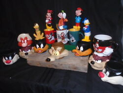 1992 Warner Bros. Looney Tunes + Disney Character Cup And Mugs + Misc.