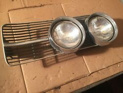 1967 Oldsmobile Delmont 88 Passenger Side Head Lights And Grill Section