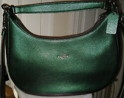 MINT Coach Hologram Set: Harley EastWest Hobo Wallet ID Case and Cosmetic Bag