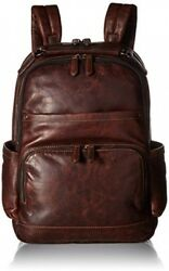 FRYE Men's Logan Antique Pull Up Backpack Dark Brown One Size