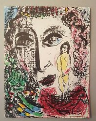 Marc Chagall Genuine Lithograph Certified Aparition At The Circus 1960 Coa