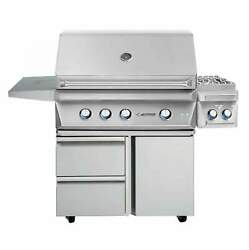 Twin Eagles TEBQ36G-CL 36-Inch Propane Gas Grill On Door and Drawers Cart With S
