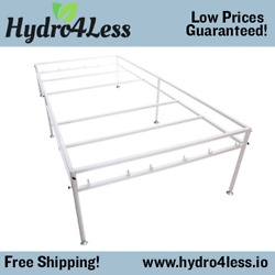 Hydroponic Tray Stand Metal Standing Heavy Duty Easy Assembly Setup Hydro 4and039x8and039