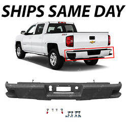 New Primered Rear Bumper For 2014-2018 Silverado And Sierra 1500 Without Park Ast
