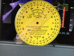 Apr T/s/d Time Speed Distance Computer W/ Protractor Plotter P/n Apr Pcp-202