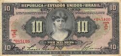 Brazil 10 Mil Reis 18.12.1926 P 103a Series 2a Circulated Banknote M10