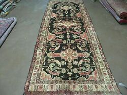 3and039 9 X 10and039 Antique Hand Made Turkish Wool Runner Rug Black Nice