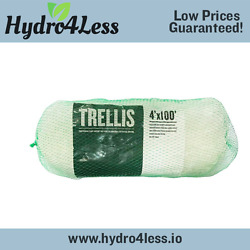 Garden Trellis Netting 4and039 X 100and039 Commercial Plant Support Horti-trellis White