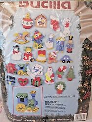 Bucilla TRIM THE TREE COLLECTION 24 Felt Ornaments  82840  FREE SHIPPING