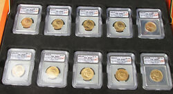 2007 P & D FIRST (4) PRESIDENTS +SAC $1 COIN....SP69 CERTIFIED...MSRP $199.95!