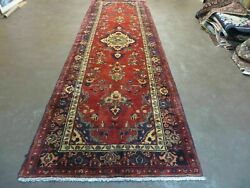 3and039 9 X 13and0392 Antique Hand Made Turkish Wool Runner Rug