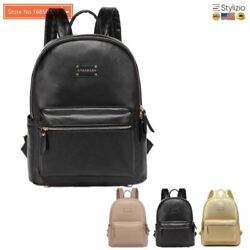 NEW Leather Backpack Baby Diaper Bag Nappy Bags Maternity Mommy Changing Wet Inf