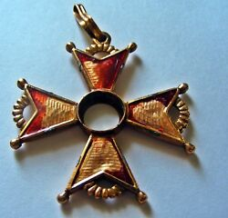 Russian Imperial Gold Order St Stanislav . 2nd Class .