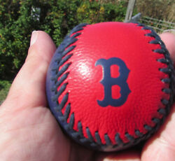 NEW COACH Boston Red Sox leather baseball paperweight 58377 box $75 blue red fan