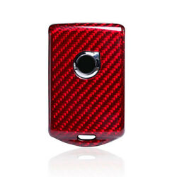 Red Carbon Fiber Smart Key Case Shell Cover Fob For Volvo XC40 XC60 XC90 S90 V90