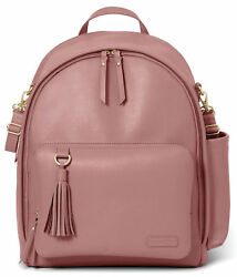 Skip Hop Greenwich Simply Chic Diaper Dusty Rose Backpack