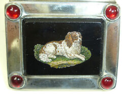 Seltene Can / Pill Box With Micro Mosaic Italy Silver Grenade