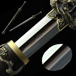 High Quality pattern steel AoXue sword Handmade Carved Pure copper Fittings#5029
