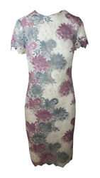 Ex Famous Store Lace Short Sleeve Bodycon Midi Occasion Dress Wedding Mands Marks