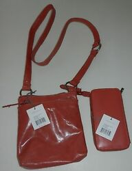 NWT HOBO INTERNATIONAL SARAH PURSE AND LUCY WALLET SET CORAL