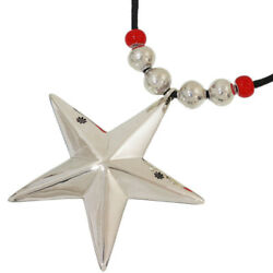 Cippy Crazy Horse Large Star Design Necklace in Sterling Silver 925 wBag D4417