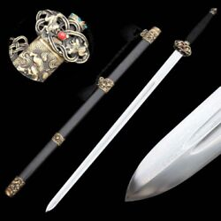 Hand Forged High Quality pattern steel lion Sword Pure copper Fittings #5035