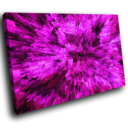 Ab840 Pink Black Cool Funky Modern Abstract Canvas Wall Art Large Picture Prints