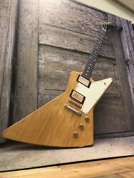 John Rowlands Hand Signed Giclee Canvas X2 Gibson Explorer And Gibson J200 Guitars