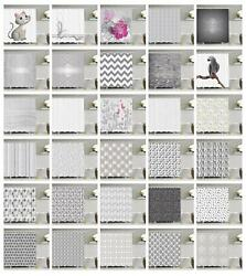 Grey Shower Curtain Ambesonne Bathroom Decor Set With Hooks 4 Sizes Available
