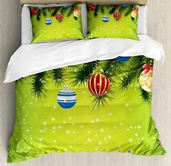Christmas Duvet Cover Set Twin Queen King Sizes With Pillow Shams Bedding Decor
