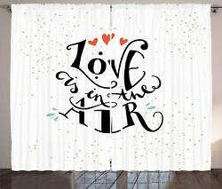 Love Curtains 2 Panel Set For Decor 5 Sizes Available Window Drapes