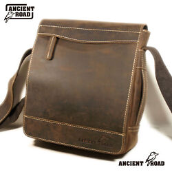 ANCIENT ROAD Genuine Leather Shoulder Bag 5 cardholder for Men iPad Bag QJ013-AU