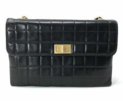 Chanel Brown Square Quilted Chocolate Bar Mademoiselle Flap bag