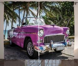 Colorful Cars Curtains 2 Panel Set For Decor 5 Sizes Available Window Drapes